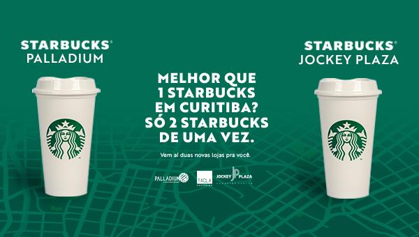 Curitiba ganha duas Starbucks: no Palladium Curitiba e Jockey Plaza