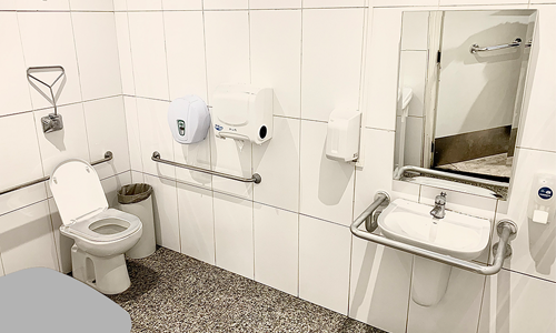 Banheiros adaptados